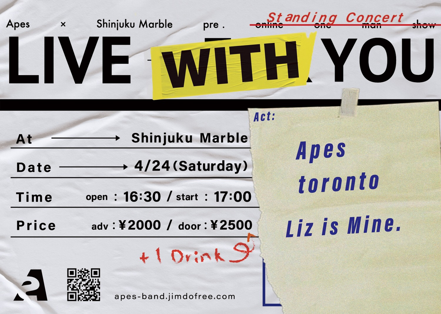 Apes ×Shinjuku Marble pre.「LIVE WITH YOU」